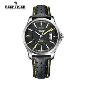 Reef Tiger Seattle Space Needle Automatic Mens Watch # RGA166-YBLG