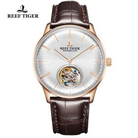Reef Tiger Seattle Tourbillon Automatic Men's Watch # RGA1930-PWS