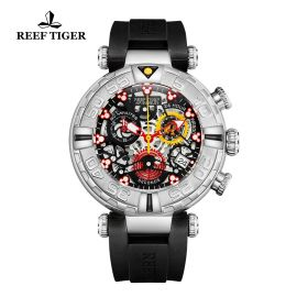 Reef Tiger Aurora Air Bubbles Quartz Watch # RGA3059-S-YBBR
